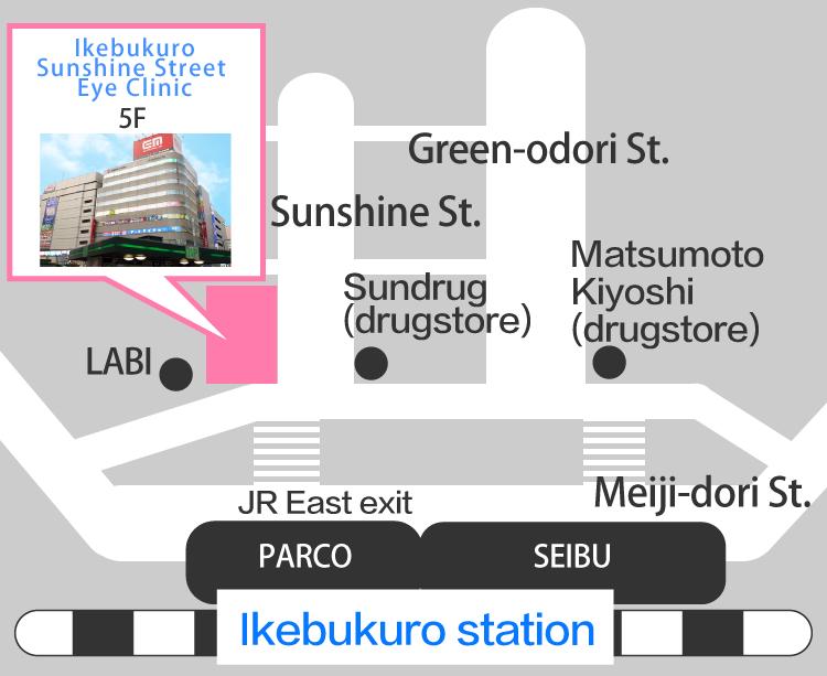 Access from JR Ikebukuro station east exit | Ikebukuro