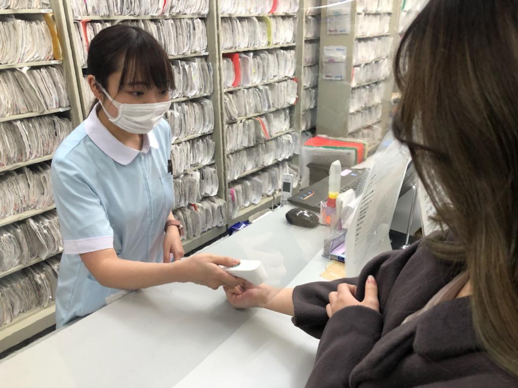 手首の体温測定
