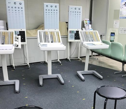 Visual acuity testing