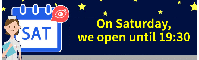 On Saturday, we open until 19:30